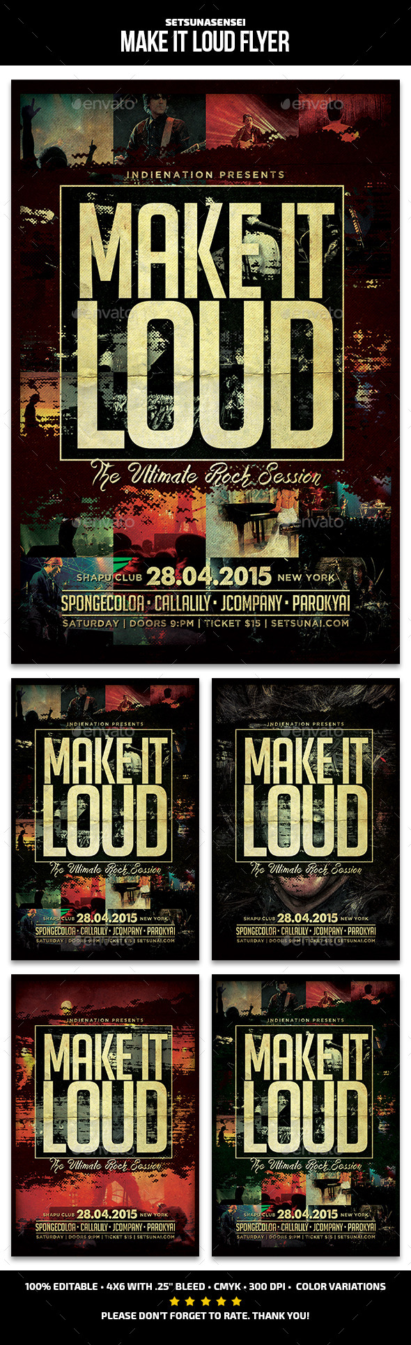 Make It Loud Flyer - Concerts Events
