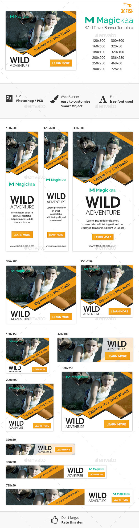 Magickaa Wild Travel Banner - Banners & Ads Web Elements