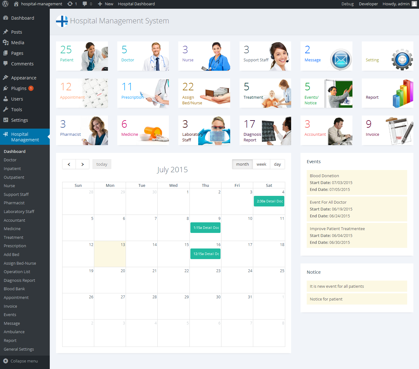 Hospital Management System for Wordpress by dasinfomedia | CodeCanyon