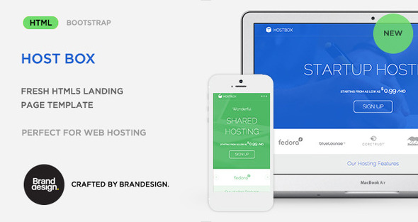 Host Box – HTML5 Landing Page Template