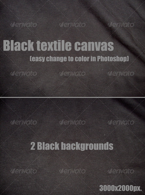 Black textile canvas - Fabric Textures