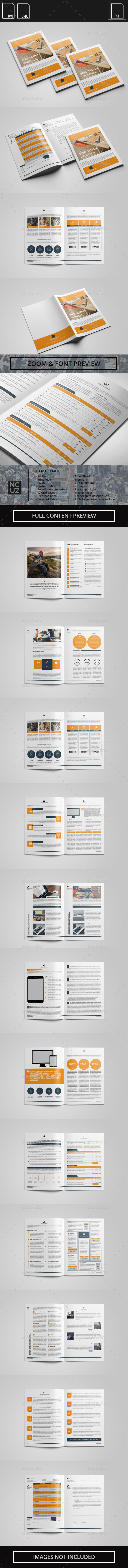 Proposal Web Design and Web Development - Proposals & Invoices Stationery