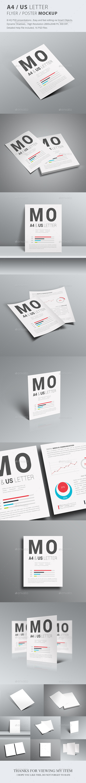 A4 / US Letter / Poster / Flyer Mockup - Flyers Print