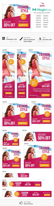 Magickaa Fashion Banner - Banners & Ads Web Elements