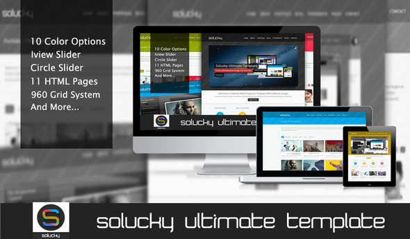 Solucky Ultimate HTML Template - Business Corporate