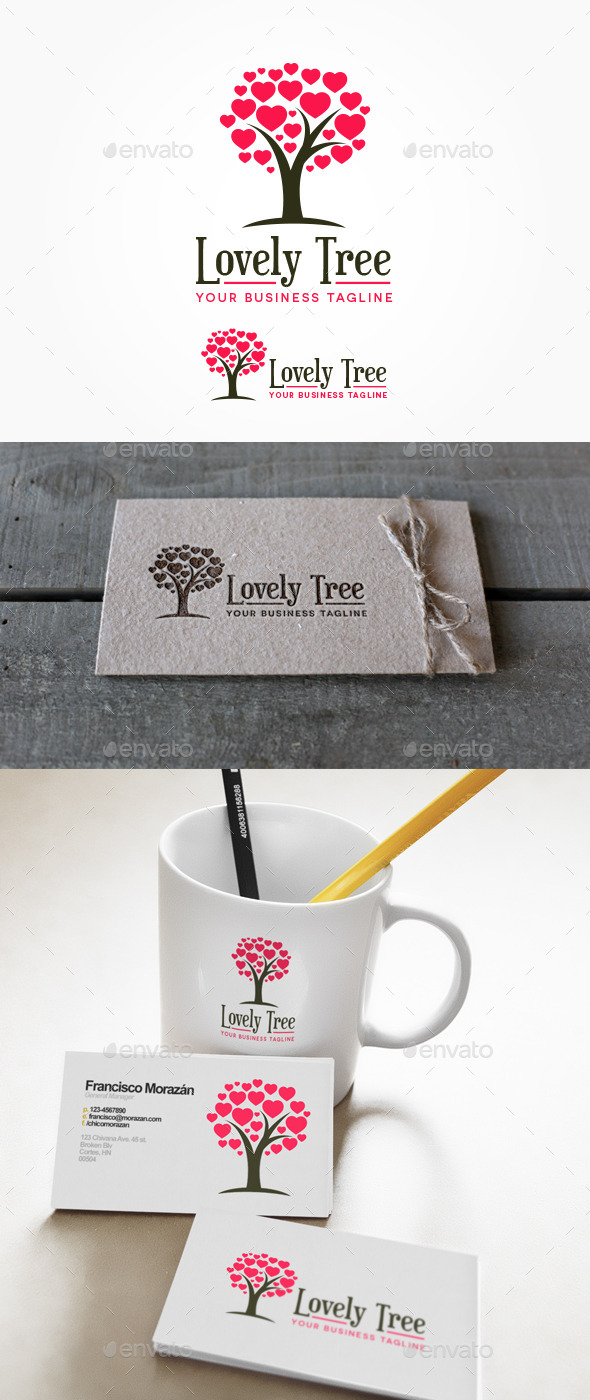 Lovely Tree Logo - Nature Logo Templates