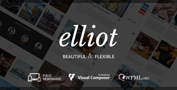 Elliot - Clean Blog-Magazine WordPress Theme - Personal Blog / Magazine