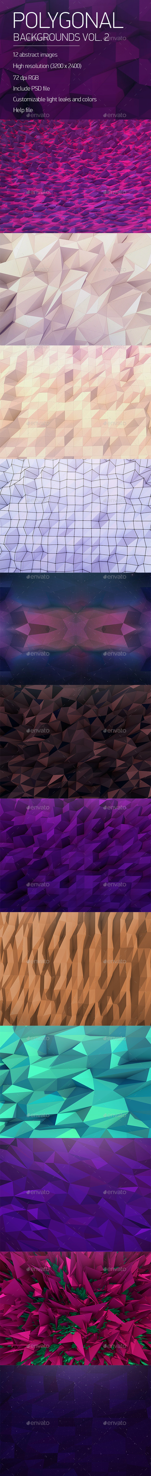 Polygonal Backgrounds Vol. 2 - Backgrounds Graphics