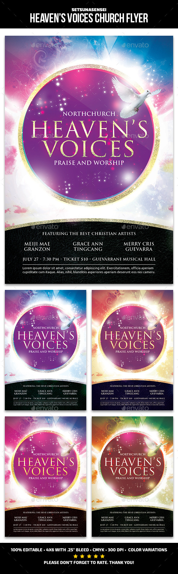 Heaven Voices Church Flyer - Church Flyers