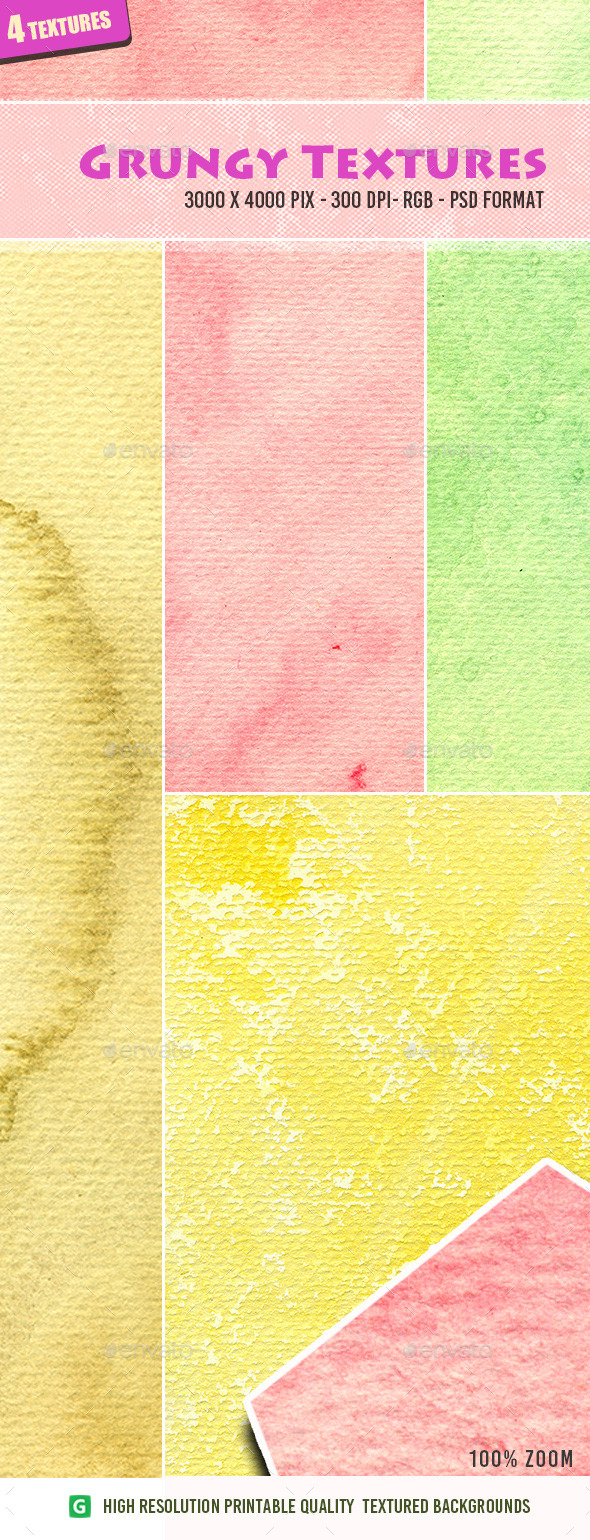 Watercolor Texture Pack 11 - Art Textures
