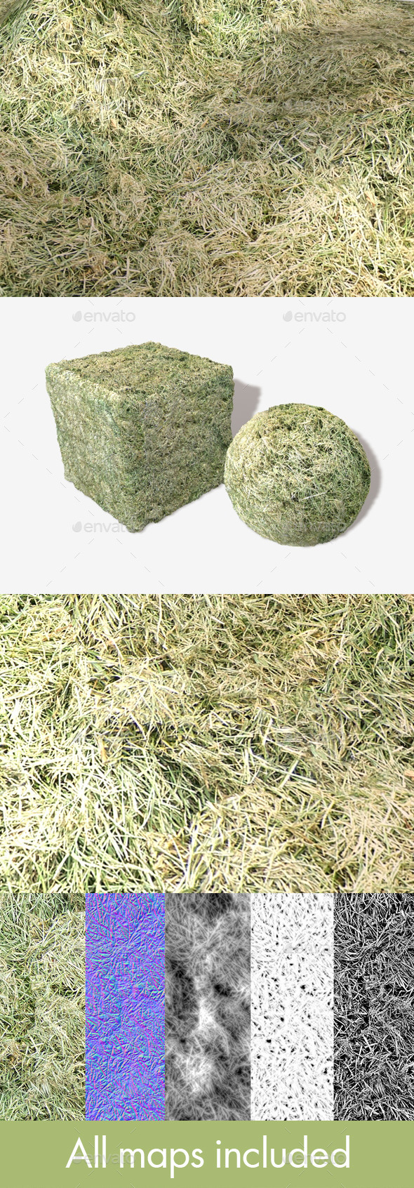 Cut Grass Seamless Texture - 3DOcean Item for Sale