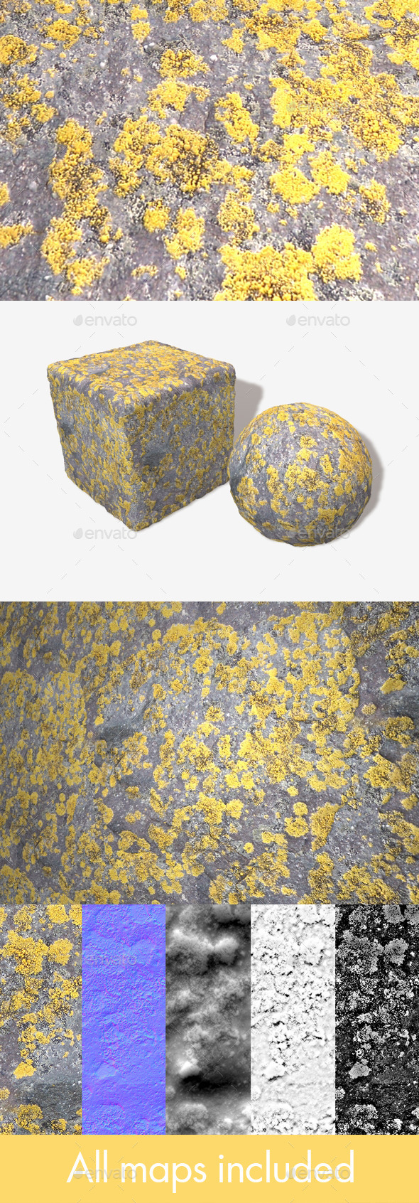 Mossy Stone Seamless Texture - 3DOcean Item for Sale