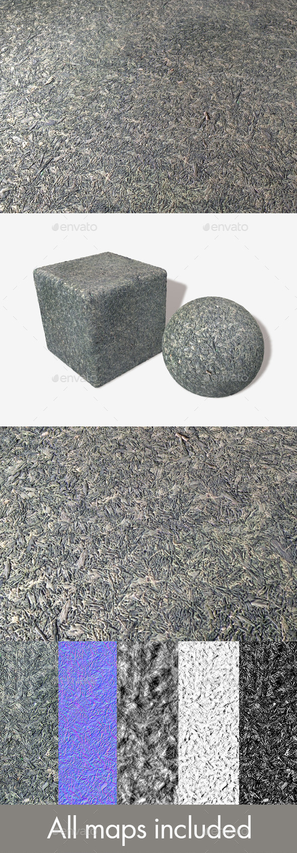 Playground Rubber Bark Seamless Texture - 3DOcean Item for Sale