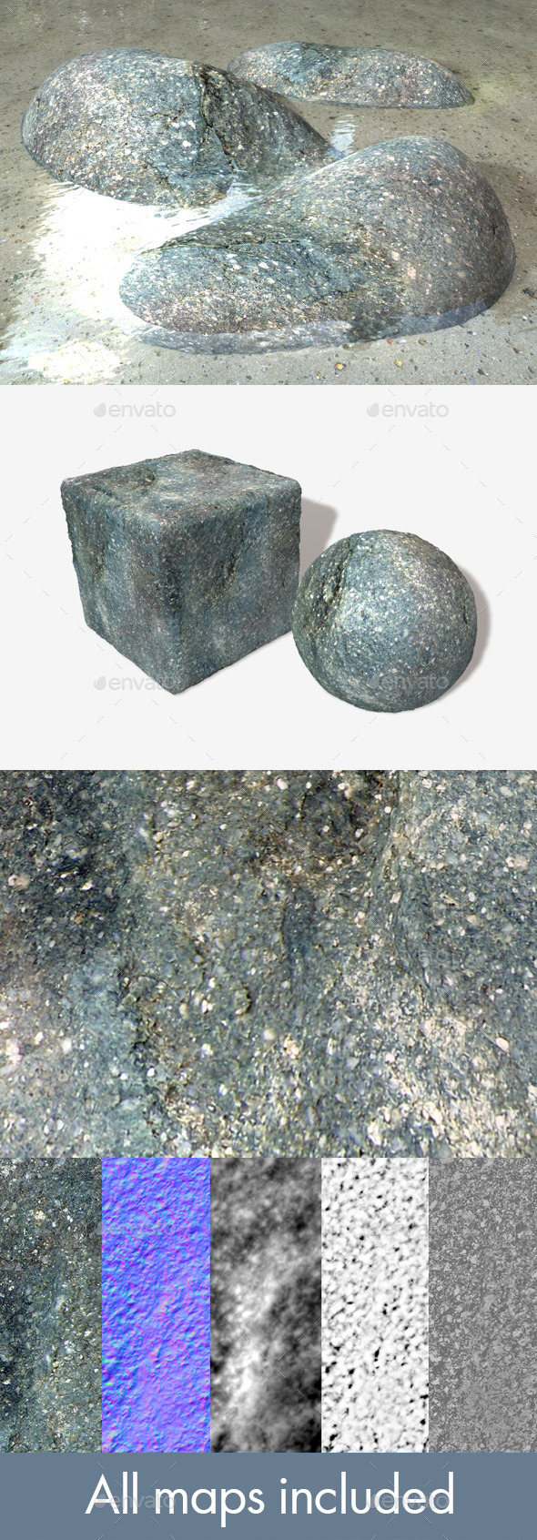 Stone Grey Seamless Texture - 3DOcean Item for Sale