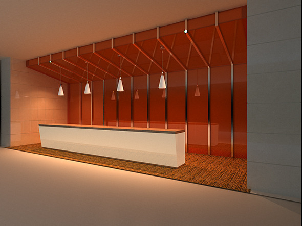 Reception area - 3DOcean Item for Sale
