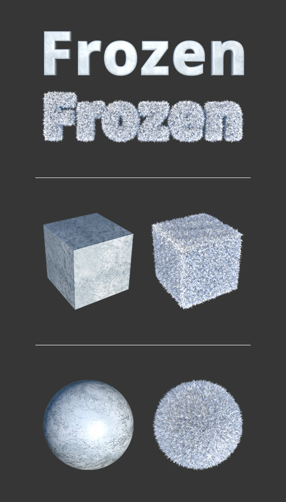 Frozen Materials - 3DOcean Item for Sale