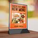 Restaurant Table Tent / Menu V2 - GraphicRiver Item for Sale