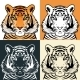 Tiger Head Silhouette - GraphicRiver Item for Sale