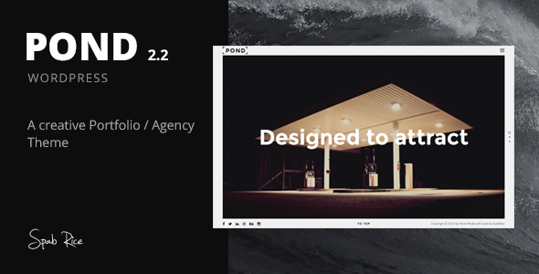 Pond – Creative Portfolio / Agency WordPress Theme