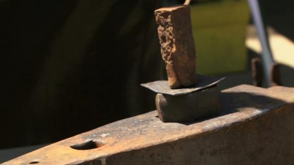 Blacksmith Manufactures Metal Heart