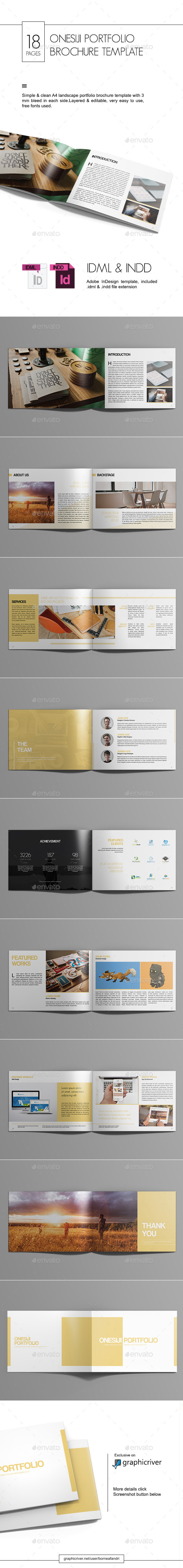 Onesiji Portfolio Brochure Template - Portfolio Brochures