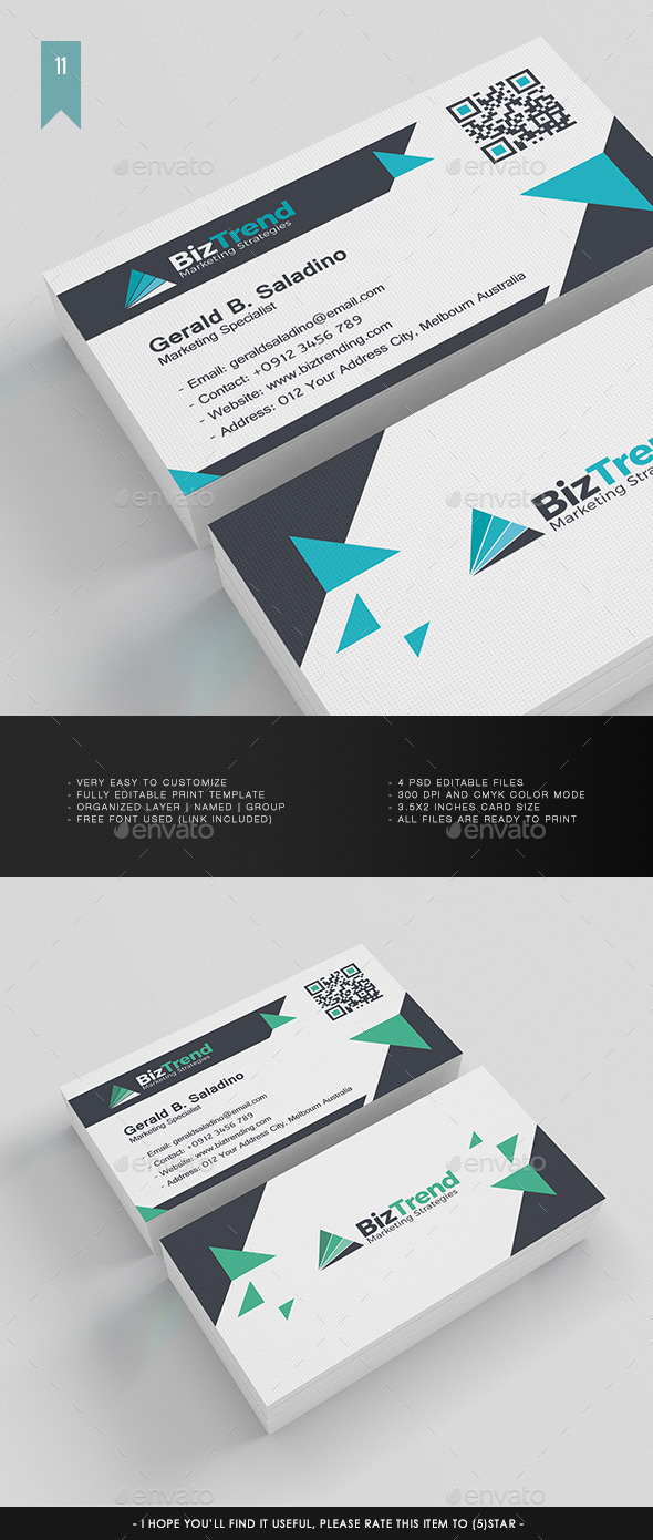 Business Card V.011 - Corporate Business Cards
