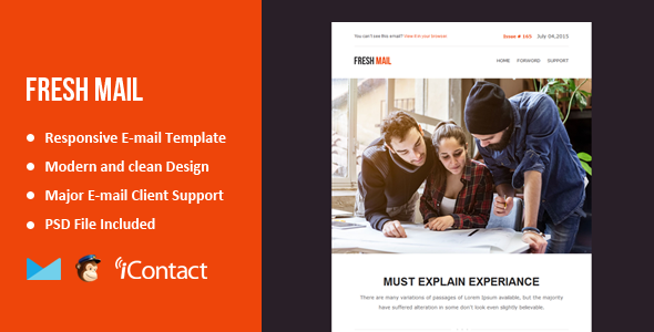Fresh Mail - Responsive E-mail Template + Themebuilder Access