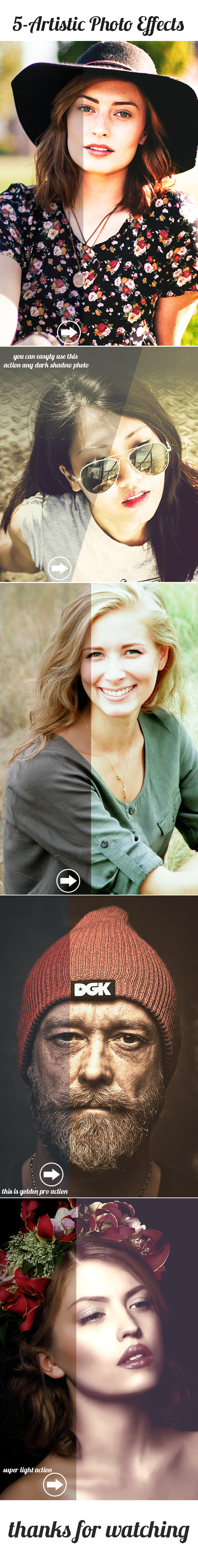 5 Artistic Photo Effects - Photo Effects Actions