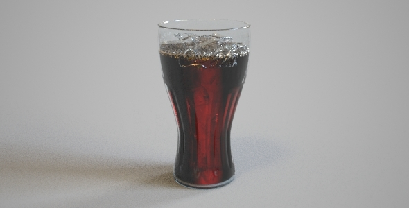 Coca Cola cup with ice - 3DOcean Item for Sale