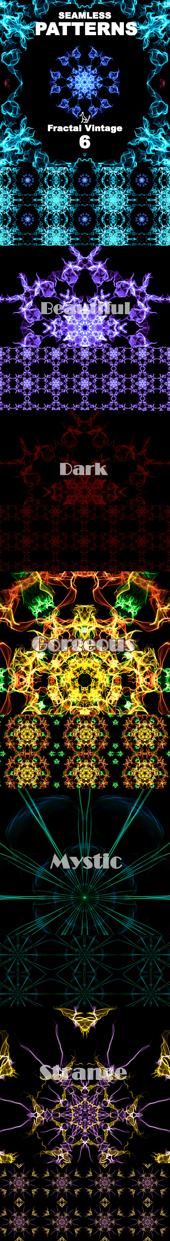 6 Fractal Patterns - Abstract Textures / Fills / Patterns