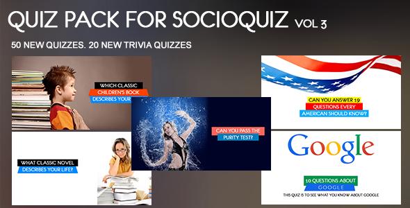 20 Quiz Pack for SocioQuiz Vol 4 - 5