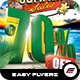Summer Sales Flyer Template - GraphicRiver Item for Sale