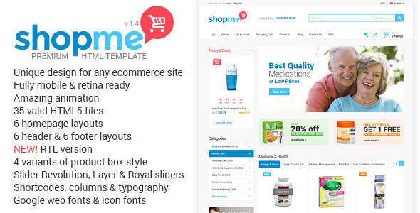 ShopMe – Ecommerce Multipurpose HTML Template