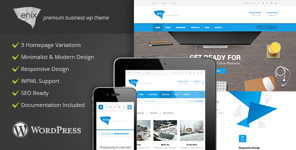 Enix – Modern Corporate WordPress Theme