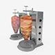 Turning Grilled Meat Kebab - 3DOcean Item for Sale