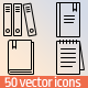 50 Books & Notepad icons - GraphicRiver Item for Sale