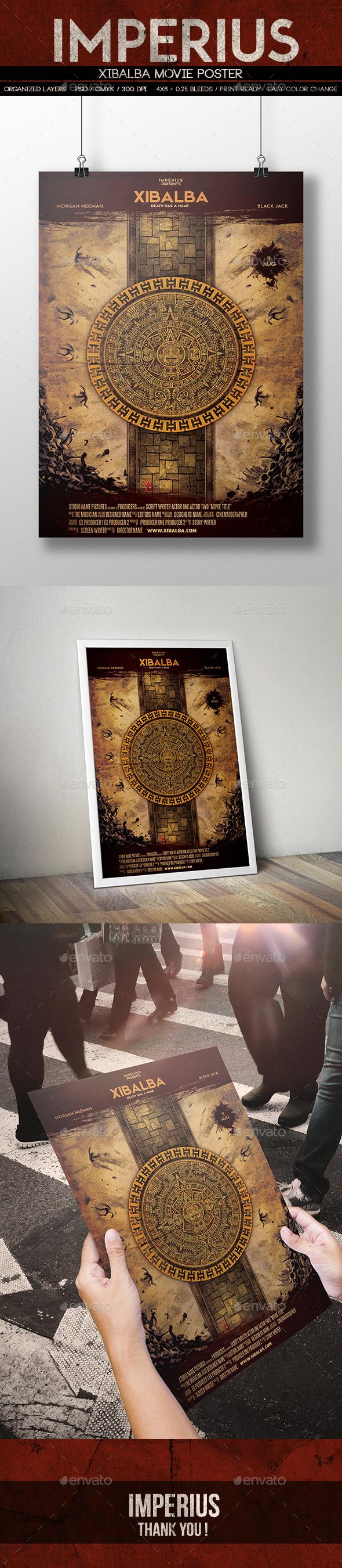Xibalba Poster - Miscellaneous Print Templates