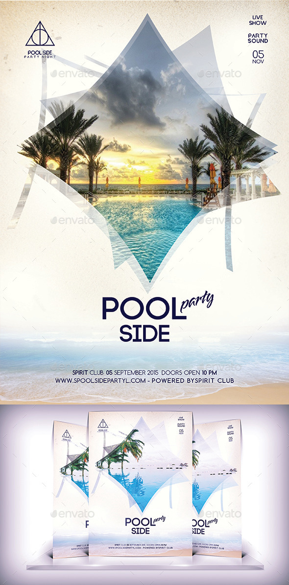 Pool Side Party Flyer - Flyers Print Templates