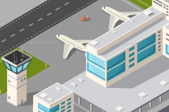City Airport  - Travel Conceptual