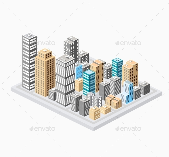 City - Buildings Objects