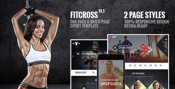 FitCross – Responsive Sport, Gym and Fitness Template