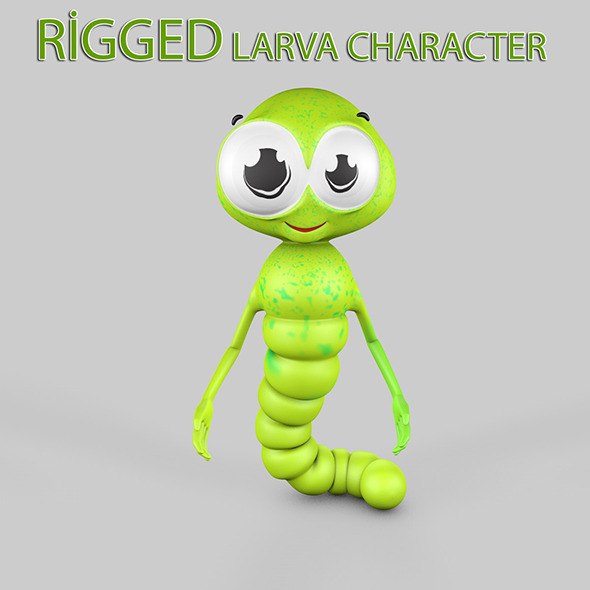 Larva Rigged Character - 3DOcean Item for Sale