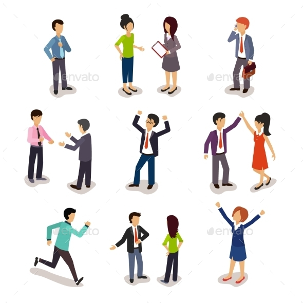 Several People Isometric, Vector  - People Characters