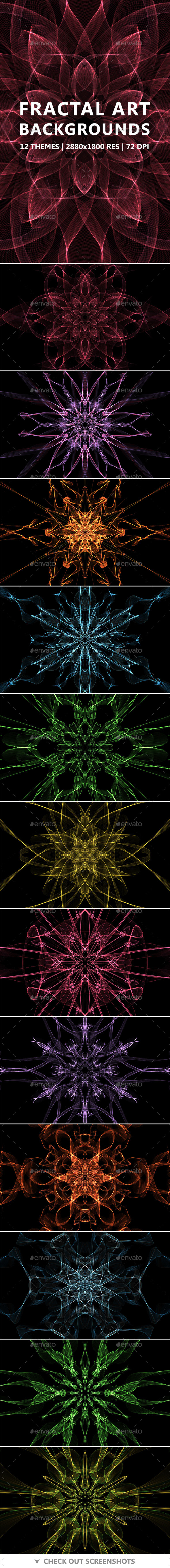 Fractal Art Backgrounds - Abstract Backgrounds
