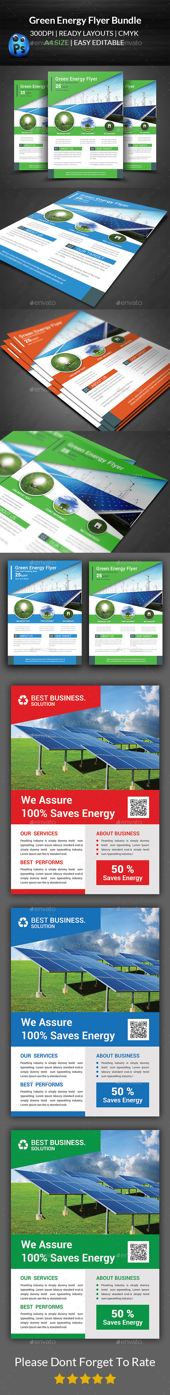 Green Energy Business Flyers Bundle - Corporate Flyers