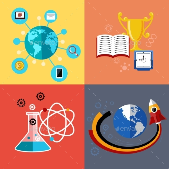 Modern Education And Science Concept - Conceptual Vectors