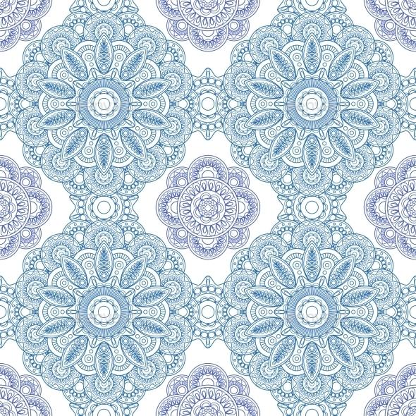 Blue Ornament Pattern - Backgrounds Decorative