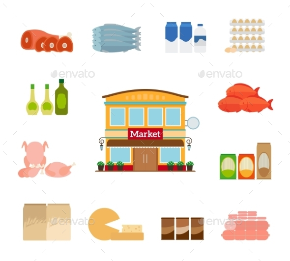 Grocery Icons - Retail Commercial / Shopping