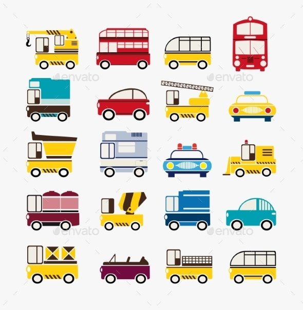 Set Of Cars  - Objects Vectors