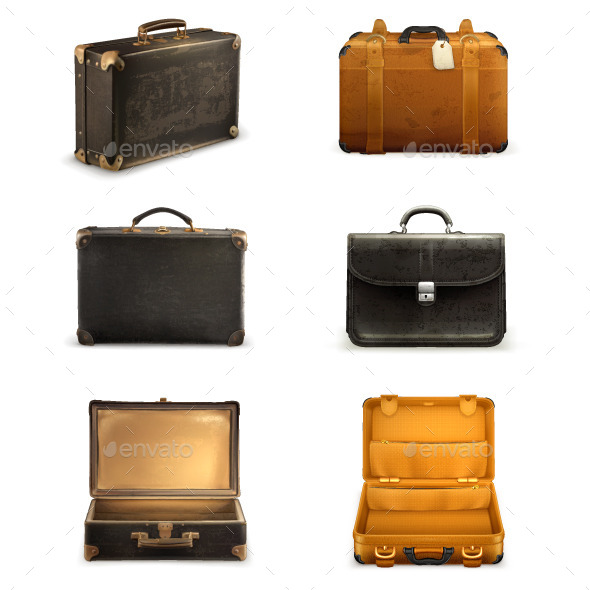 Old Suitcases for Travel - Travel Conceptual